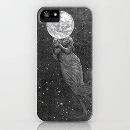 Moon Head iPhone Case