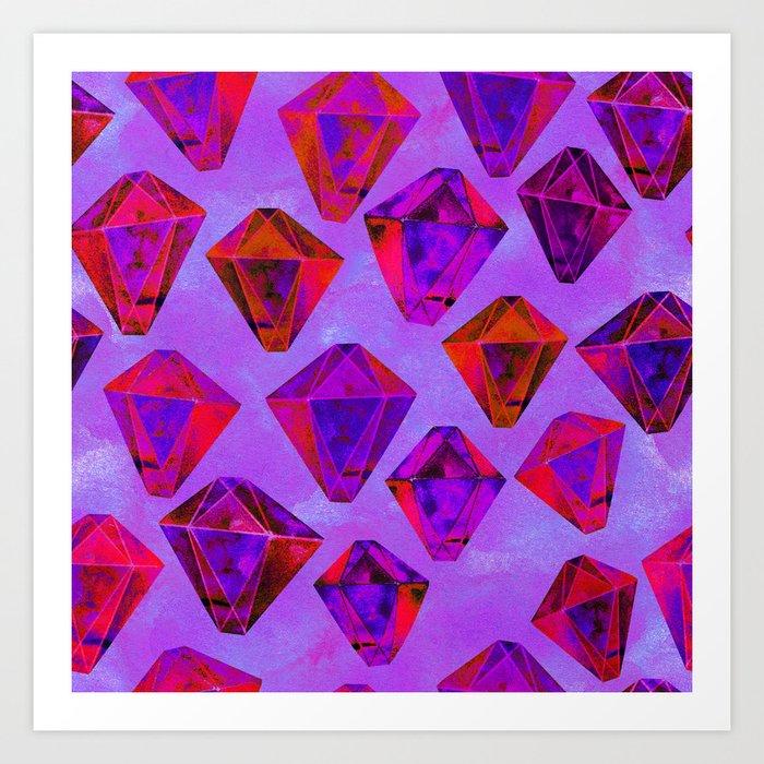 Fairy gems Art Print