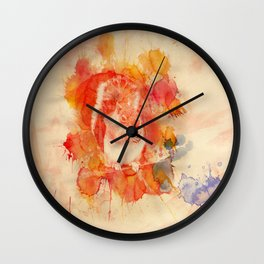 Watercolor Squirrel Wall Clock