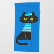Fitz - Sailor cat Beach Towel
