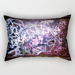 Bathroom Graffiti II Rectangular Pillow