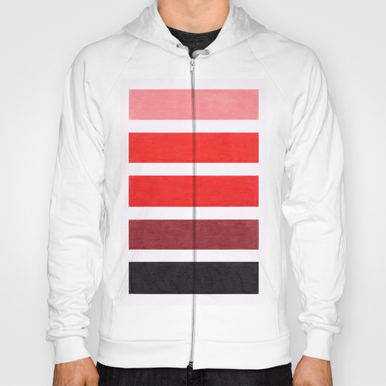 Colorful Red Geometric Pattern Hoody