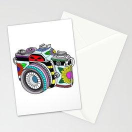 Flower camera Stationery Cards