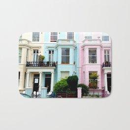 Pastel houses Bath Mat