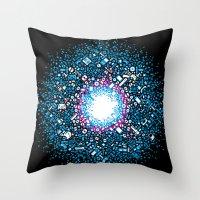 gaming Throw Pillows featuring Gaming Supernova - AXOR Gaming Universe by Studio Axel Pfaender