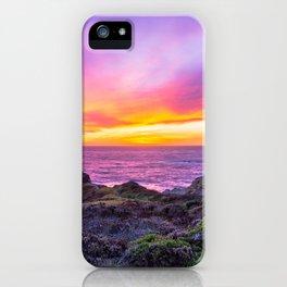 California Dreaming - Brilliant Sunset in Big Sur iPhone Case