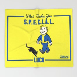 Luck S.P.E.C.I.A.L. Fallout 4 Throw Blanket