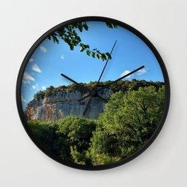 rock cliff at lim channel fjord istria croatia europe Wall Clock