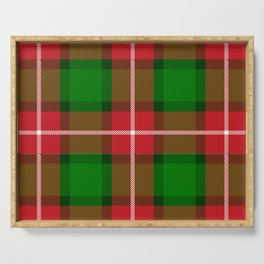 Plaid Holiday Serving Tray