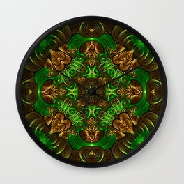Emerald Path Mandala Wall Clock