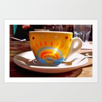 cafe Art Prints featuring Cafe by Trina Ko