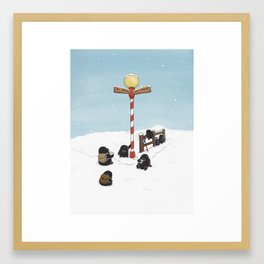 Finding Santa, (The Unexpected Adventures: Christmas Edition Framed Art Print