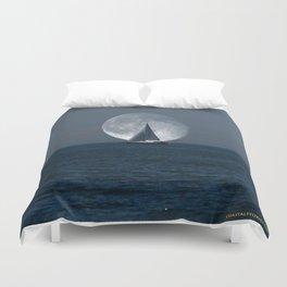 Full Moon Sailing Duvet Cover