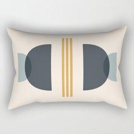 Sapphire Abstract Half Moon 2 Rectangular Pillow
