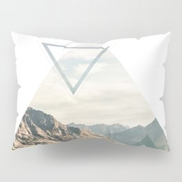 Mountain with Shapes Pillow Sham