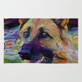 The GERMAN SHEPHERD from our POP YOUR POOCH line Rug