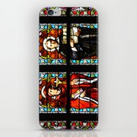 stained glass iPhone & iPod Skins featuring Stained glass by Marieken