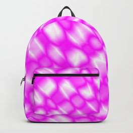Splashes of paint in a pink diagonal with cracks on the plastic film. Backpack