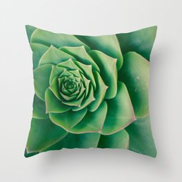 Green Plant PhotoArt Throw Pillow