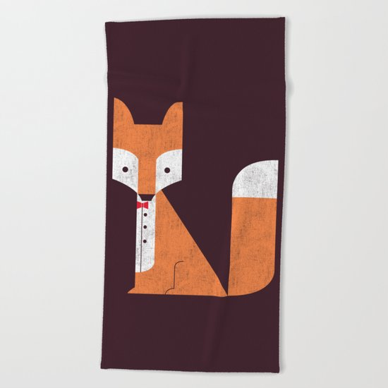 Le Sly Fox Beach Towel