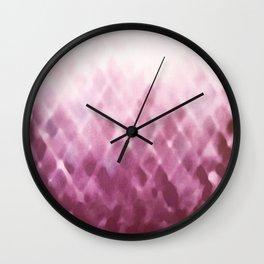 Diamond Fade in Rose Wall Clock