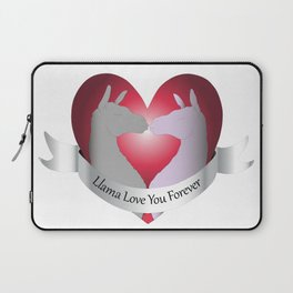 Llama Love You Forever in Color Laptop Sleeve