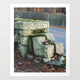 Old Stones Art Print