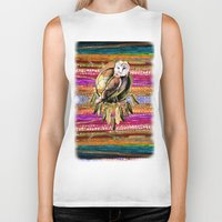 indian Biker Tanks featuring Indian Colors by Joke Vermeer