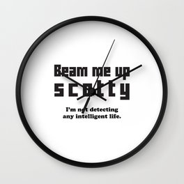 Beam Me Up Wall Clock
