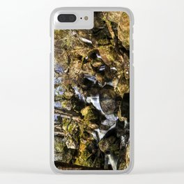 Becky Falls with texture Clear iPhone Case