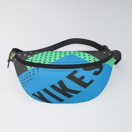 Memphis Throwback Retro 1990s 90s Trendy Hipster Pattern Blue Black Fanny Pack