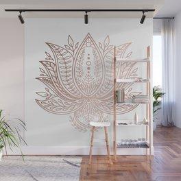 Botanical Lotus - Rose Gold Wall Mural