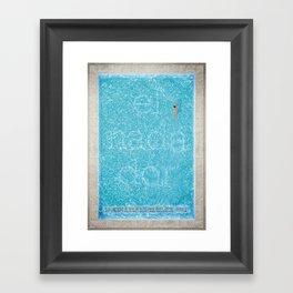 El Nadador Framed Art Print