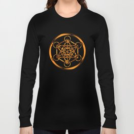 Metatron Cube Gold Long Sleeve T-shirt