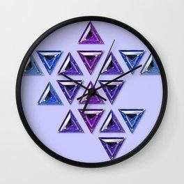 Cool Tones Gradient Trillion Pattern Wall Clock