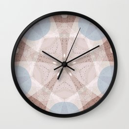 Sand Dollar Mandala IV Wall Clock