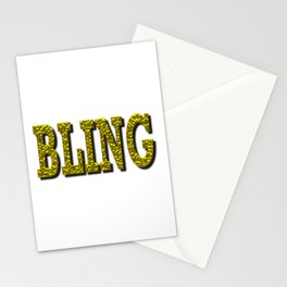 Bling Word in Gold Stationery Cards