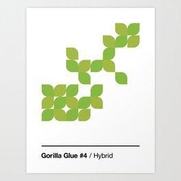 Cannabis Strain Series / 1 / Gorilla Glue #4 Art Print