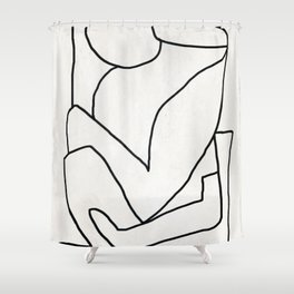 Abstract line art 2 Shower Curtain