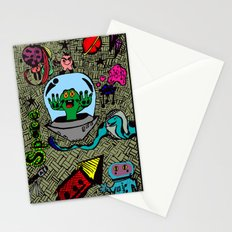 Aliens in Space Stationery Cards
