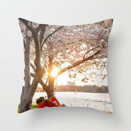 Flower photography by Alex Iby Throw Pillow