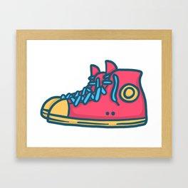 Chuck Taylors Inspired Vintage Pop Shoes Framed Art Print
