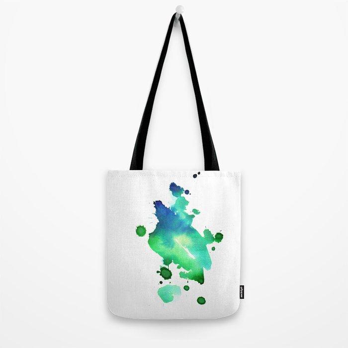 watercolor green 1 Tote Bag