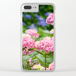 Pink & Lavender Flower Clusters Clear iPhone Case