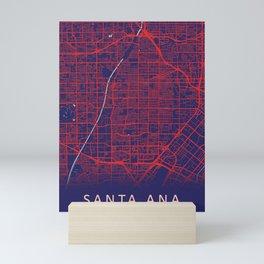 Santa Ana, CA, USA, Blue, White, City, Map Mini Art Print