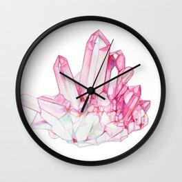 Rose Quartz Crystal Wall Clock