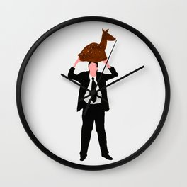 The story about me and the deer Wall Clock