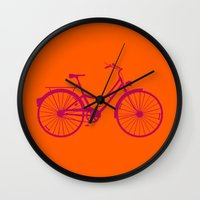 bicycle Wall Clocks featuring Bicycle by Mr and Mrs Quirynen