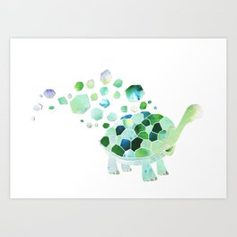 Coming out of his shell Art Print