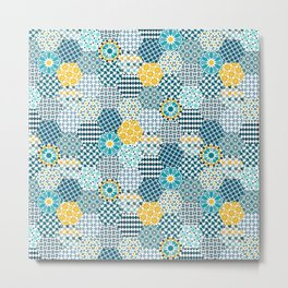 Spanish Tiles of the Alhambra Metal Print
